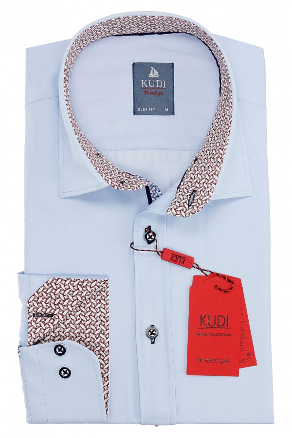Koszule długi rękaw Koszula Kudi Slim fit biała