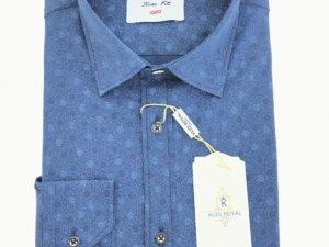 Koszula Kudi Royal Slim fniebieska w kółka 1