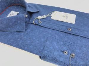 Koszula Kudi Royal Slim fniebieska w kółka
