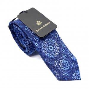 [category] Elegancki Krawat Granatowy z Ciekawym Wzorem