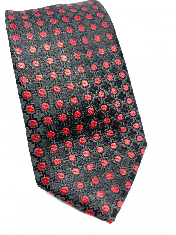 Dodatki Elegancki Krawat Czerwony Czarny
