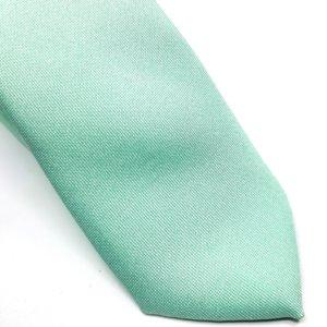 Elegancki Krawat Miętowy- Śledzik