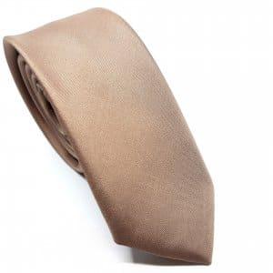 Dodatki Elegancki Krawat Jasny Brąz-Śledzik
