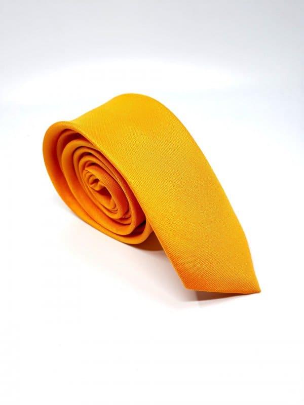 Dodatki Elegancki Krawat Pomarańczowy-Śledzik