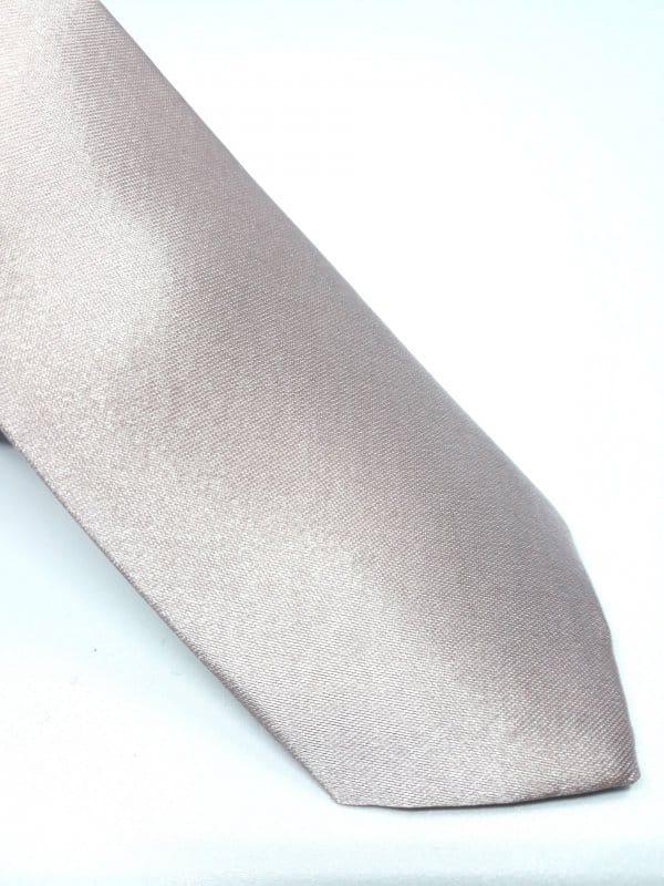 Dodatki Elegancki Krawat Pudrowy Róż- Śledzik