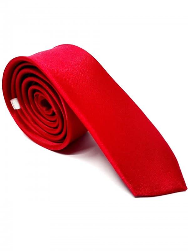 Dodatki Elegancki Krawat Czerwono Malinowy