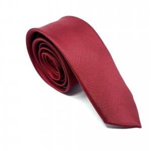 Dodatki Elegancki Krawat Bordowy – Śledzik