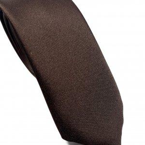 Dodatki Elegancki Krawat Ciemny Brąz