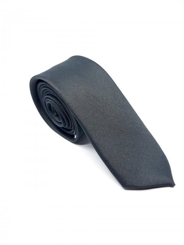 Dodatki Elegancki Krawat Ciemny Popiel