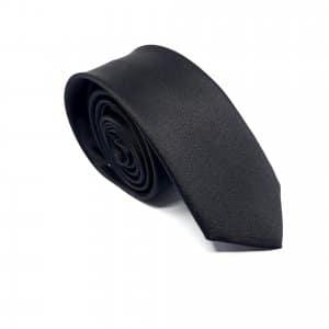 Dodatki Elegancki Krawat Czarny- Śledzik