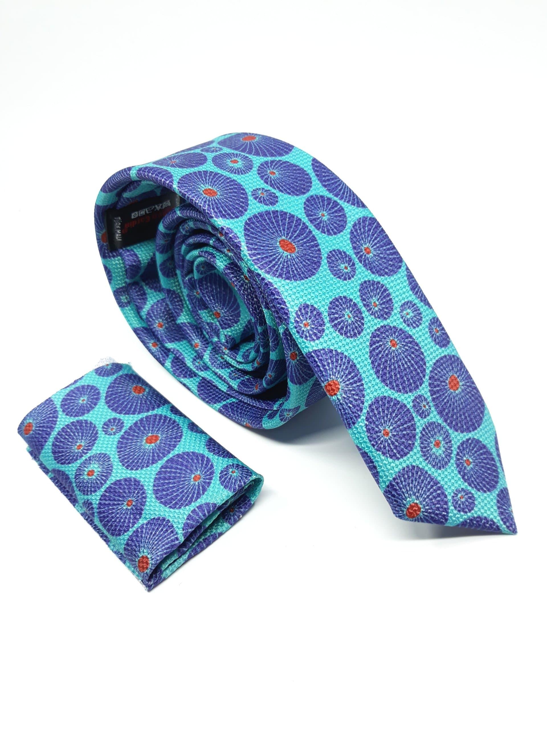 Dodatki Elegancki Krawat Poszetka Komplet Ruben Cardin Koła