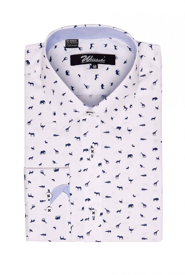 Koszule długi rękaw Koszula Wilińscy Slim fit Safari