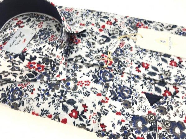 Koszule długi rękaw Koszula Kudi Slim fit Royal kwiaty