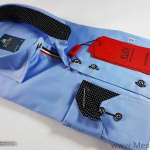 Koszule długi rękaw Koszula  Niebieska Gładka
