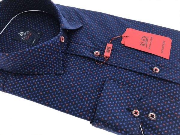 Koszule długi rękaw Koszula Kudi Slim fit granat