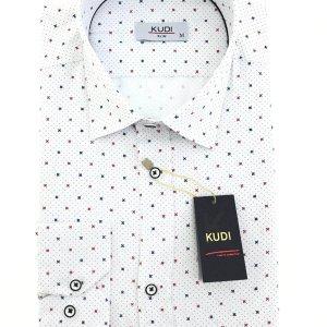 Koszule długi rękaw Koszula Kudi Slim