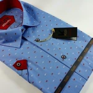 Koszula Kudi Slim niebieska wzór