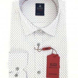 Koszule długi rękaw Koszula Kudi Slim fit trójkaty