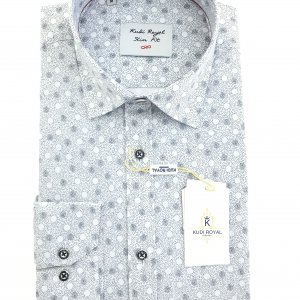 Koszule długi rękaw Koszula Royal Wzorek