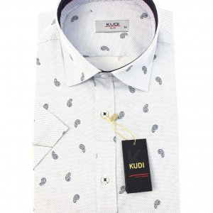 Koszula Kudi Slim fit ślimaki