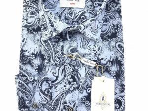 Koszula Kudi Royal Slim fit turecki wzór 1