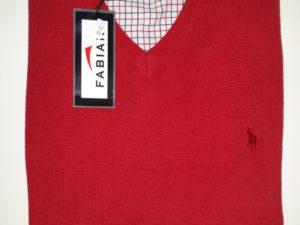 Swetr czerwony Fabian