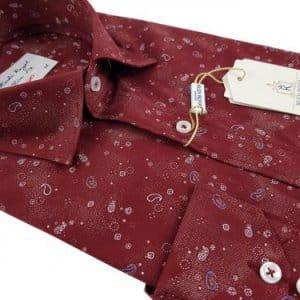 Koszule długi rękaw Koszula Kudi Royal Bordo