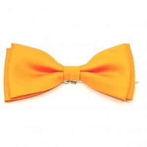męskie Mucha męska-żółto pomarańczowa