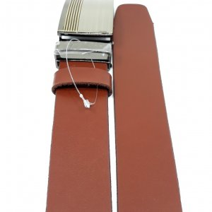 Pasek automat skóra karmelowy brąz