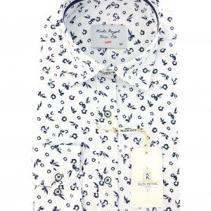 Koszule długi rękaw Koszula Biała Wzorek