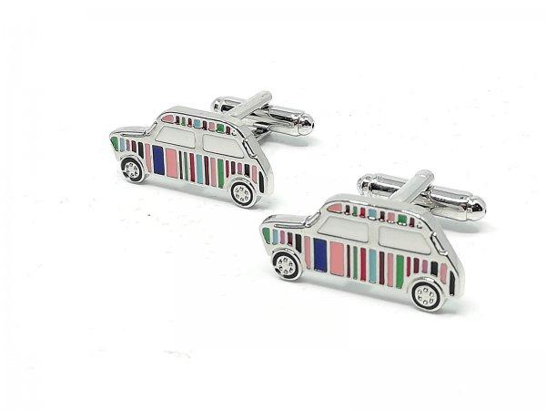 spinki-srebrne-tematyczne-kolorowe-auto