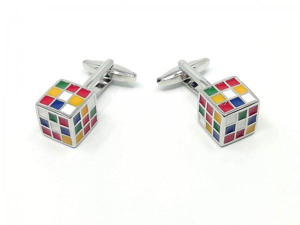 Dodatki Spinki do mankietów Kostki Rubika