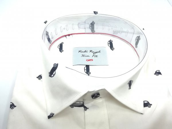 Koszule długi rękaw Koszula Kudi Auta Slim Fit Royal