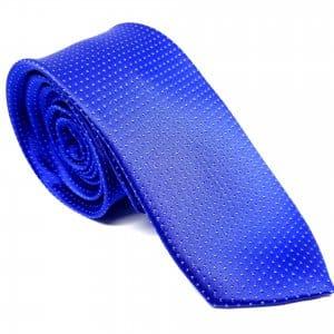 Dodatki Elegancki Krawat Piotr Niebieski Kropeczki
