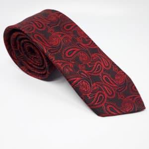 Dodatki Elegancki Krawat Czarny z Czerwonymi Dodatkami