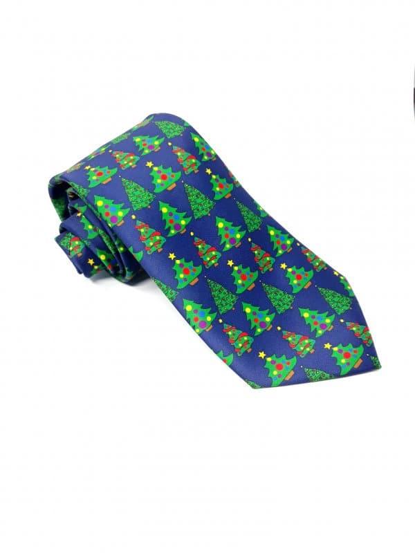 Dodatki Świąteczny Krawat Męski Kolorowe Choinki Gratis