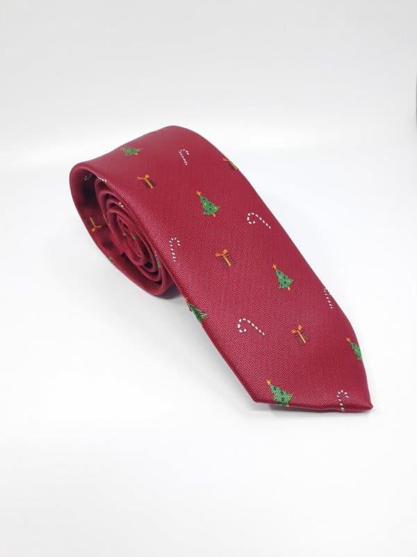 Dodatki Świąteczny Krawat Męski Choinki Gratis