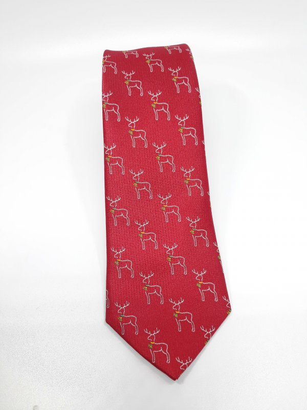 Dodatki Świąteczny Krawat Męski Renifery
