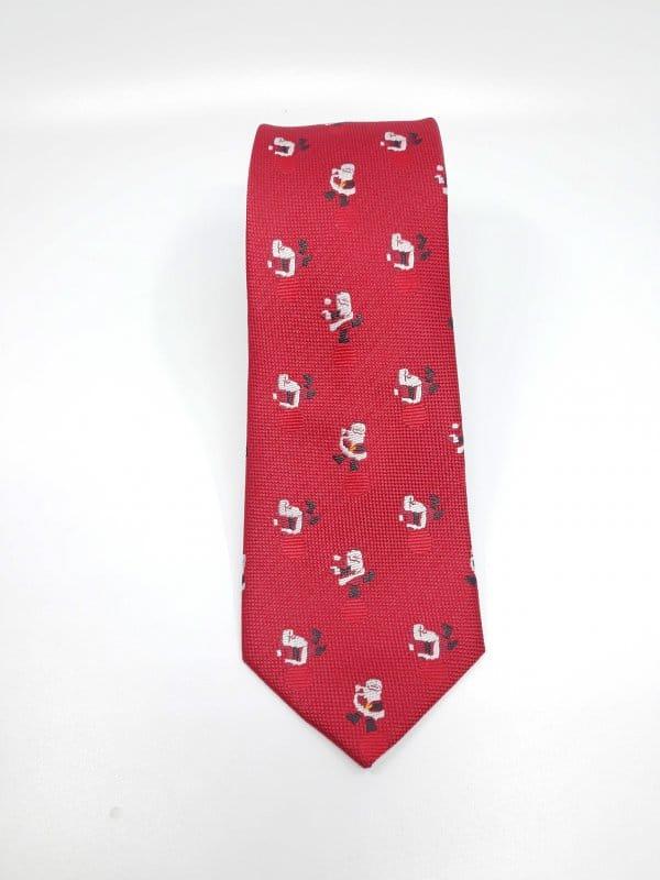 Dodatki Świąteczny Krawat Męski Mikołaje Tańczące Gratis
