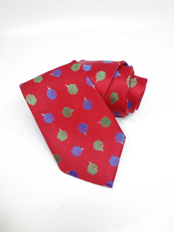 Dodatki Świąteczny Krawat Bombki