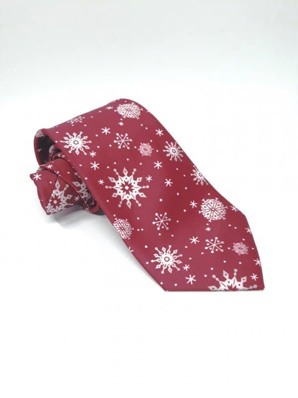 Dodatki Świąteczny Krawat Śnieg