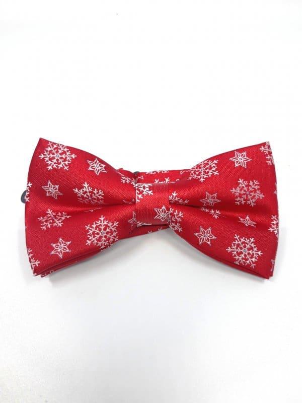Dodatki Świąteczna Mucha Męska Gwiazdki Śnieg