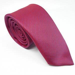 Dodatki Elegancki Krawat Czerwony w Niebieską Kosteczkę