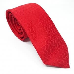 Dodatki Elegancki Krawat Tłoczony Czerwony