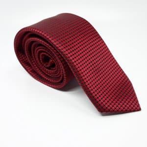 [category] Elegancki Krawat Ciemno Czerwony Kółka