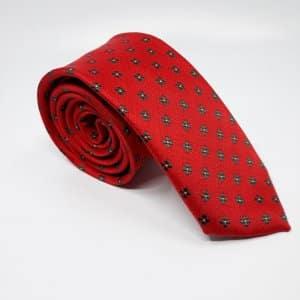 Dodatki Elegancki Krawat Czerwony Zielone Kwiatki
