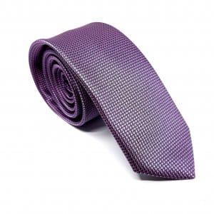 Dodatki Elegancki Krawat Jasno Fioletowy Krateczka