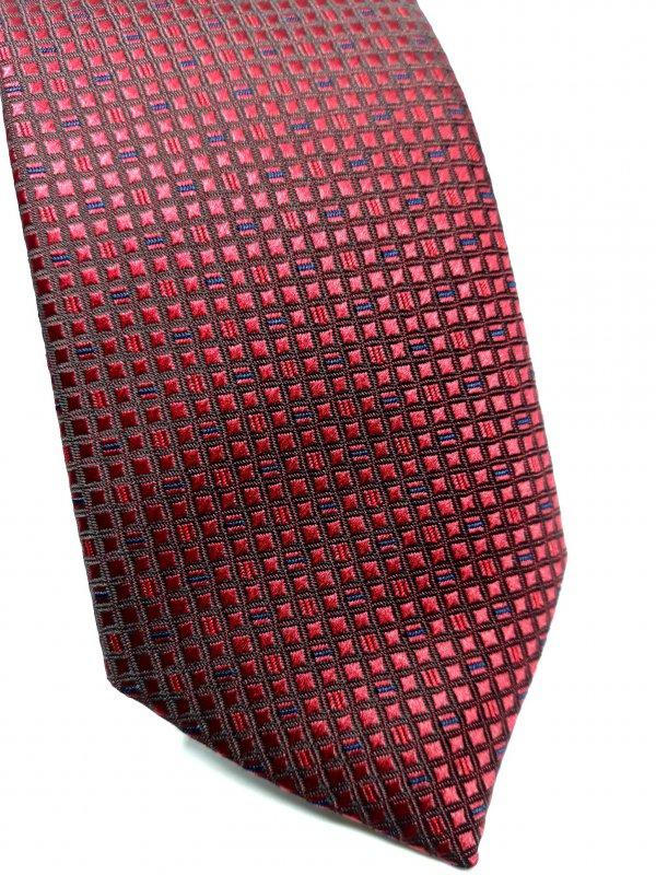 Dodatki Elegancki Krawat Piotr Bordo Kwadraciki