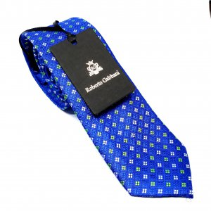 [category] Elegancki Krawat Szafirowy Seledynowe Kwadraciki