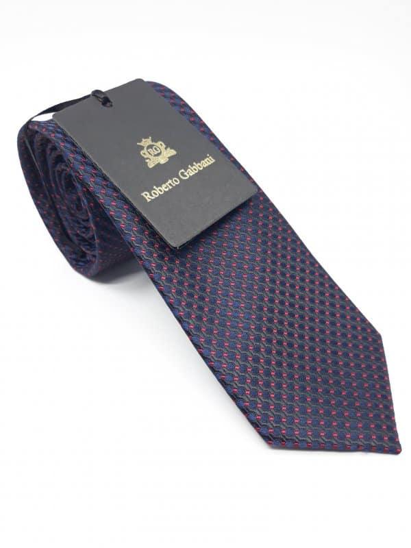 Dodatki Elegancki Krawat Roberto Gabbani Granat